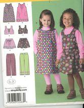 Simplicity 2483 Girl Dress, Jumper, top, Vest, Pants, Skirt Size 2-4-5-6... - $3.00