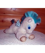 "Disney Hercules Magical White & Turquoise Flying Horse Plush 12"" Gold Hoof Pegas - $14.95"