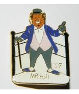 WWF Wrestling Personality Mr. Fuji Figure Enamel Metal Pin 1990 MINT - $7.84