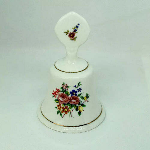 Primary image for Vintage STAFFORDSHIRE ENGLAND Fine Bone China Floral Bell 4""