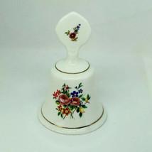 "Vintage STAFFORDSHIRE ENGLAND Fine Bone China Floral Bell 4"" - $11.88"
