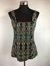 Anthropologie Edme Esyllte Womens Top 6 S Multicolor Aztec Sleeveless Op... - $18.80
