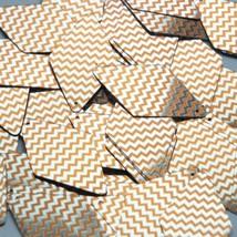 "Long Diamond Sequin 1.75"" Orange Silver Chevron Zig Zag Pattern Metallic - $14.97"