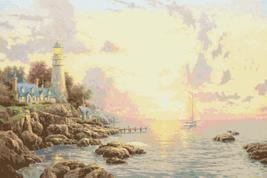 """Counted Cross Stitch - The Sea Of Tranquility - Kinkade - 35.43"""" x 23.64"""" - L199 - $3.99"""