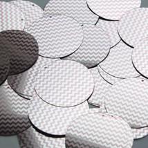 """Round Sequin 1.5"""" Pink Silver Chevron Zig Zag Pattern Metallic - $14.97"""