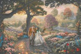 """Counted Cross Stitch - Gone with the wind - Kinkade - 35.43"""" x 23.71"""" BN541 - $3.99"""