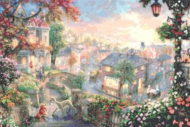 """Counted Cross Stitch - Lady and the tramp - Kinkade - 35.43"""" x 23.93"""" - L577 - $3.99"""