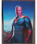 Marvel Avengers The Vision Glossy Print 11 x 17 In Hard Plastic Sleeve - $24.99