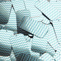 "Rectangle Sequin 1.5"" Aqua Blue Silver Chevron Zig Zag Pattern Metallic - $14.97"