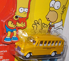 Very Rare 2003 Johnny Lightning, The Simpsons School Bus, White Lightning Die C - $60.00