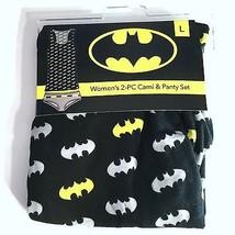 Batman DC Comics 2 Piece Cami Panty Set Large Tank Top Camisole Pajamas New - $19.75