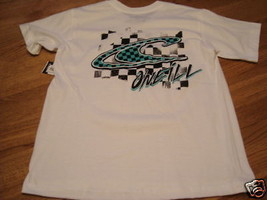 Boys O'Neill S  white 16.00 T shirt NWT butterfingers  - $11.87