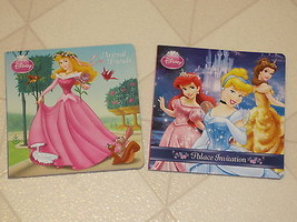 Childrens Book Set 2 Disney Princess Animal Friends & Palace Invitation - $9.84
