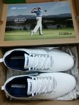 Skechers Go Golf Ultra Go Wide Fit White Navy Size 10 Torque H2GO Waterproof - $56.99