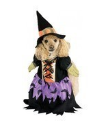 Fashionista Magical Bewitched Purple Witch Pet Dog Costume and Hat by Ru... - €12,45 EUR
