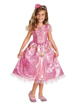 Deluxe Princess Aurora Pink Sparkle Girl Dress/Headpiece Costume Disney/Disguise - $39.99