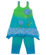 Posh Adorable New Moon Turquoise Girls Boutique Tunic Tank Top/Matcihng ... - £40.75 GBP