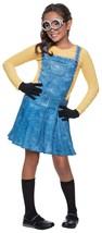 Cute Female Minion Licensed Costume Rubies 610786 Dress, Goggles, Gloves... - $29.99