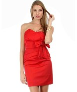 Sexy Red Satin Strapless Sheath Party Cruise Cl... - $24.99