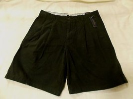 CLUB ROOM MEN'S WRINKLE RESISTANT TWILL SHORTS Black size 36 NWT! - $12.82