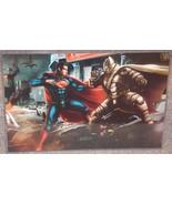Batman In Metal Suit vs Superman Glossy Print 1... - $24.99