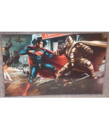 Batman In Metal Suit vs Superman Glossy Print 11 x 17 In Hard Plastic Sl... - $24.99