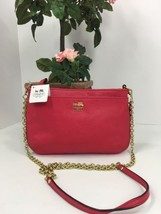 Coach Crossbody Bag Madison Leather Zip  48515 Punch B5 - $98.99