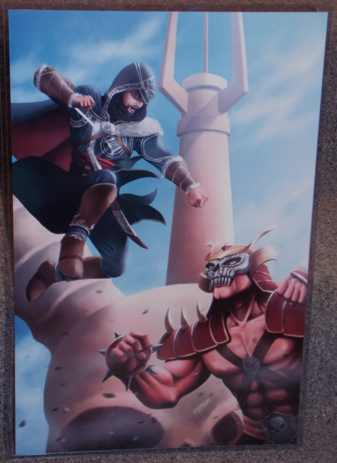 Primary image for Assassins Creed Ezio vs Mortal Kombat Shao Kahn Glossy print 11 x 17 In Sleeve
