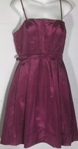 Eliza J Dress Size 10 Purple Fit and Flare Tulle Lining A-Line Belt Cocktail - $34.64