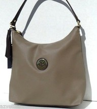 NEW! Green Grey-Brown Faux Leather [TOMMY HILFIGER] Medium HOBO Bucket H... - $1.329,79 MXN