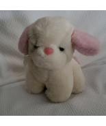 Commonwealth Lush Plush Stuffed Musical Puppy Dog White Pink Wind Up Toy Lullaby - $79.19