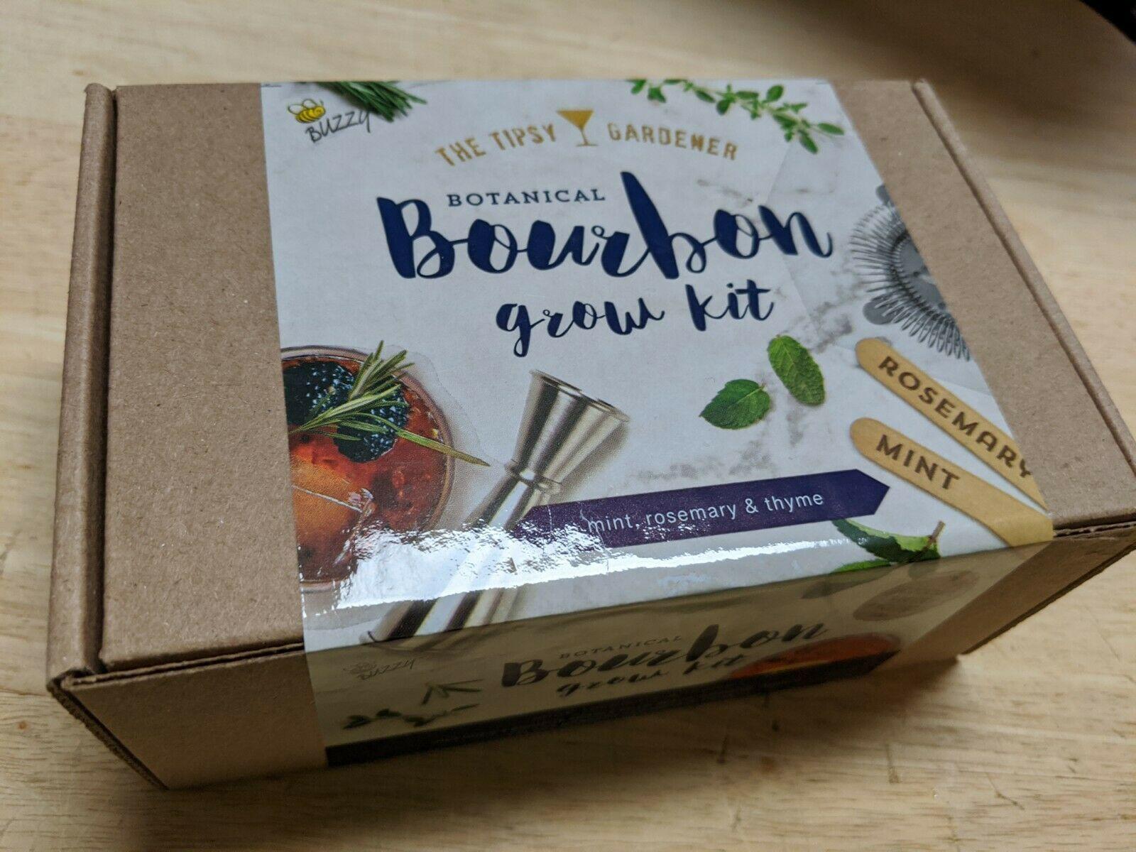 The Tipsy Gardener Botanical Bourbon Cocktail Grow Kit - Mint, Rosemary & Thyme