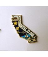 US CALIFORNIA STATE MAP PIN BADGE NEW 1 inch - $4.42