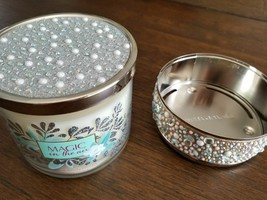 Bath & Body Works Candle Lid & Holder Only Pearl Bling No Candle - $27.01