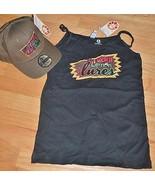 NEW! LUCKY LEMON LURES Fishing Women's Sz Med Cami Tank Top & Hat Lot Gi... - $19.79