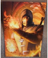 Mortal Kombat Scorpion Glossy Print 11 x 17 In Hard Plastic Sleeve - $24.99
