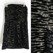 NWT $99 Urban Outfitters size 8 zebra black gold sleeveless dress prom c... - £30.07 GBP