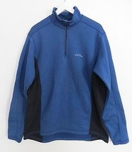 Eddie Bauer Sport men's size XL EXTRA LARGE Tall blue black pullover swe... - $49.99