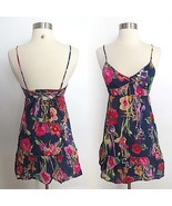 American Eagle Outfitters size 2 colorful floral print v-neck dress summer - $25.99