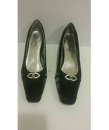 Wild Rose Black Pumps with Rhinestone Accents Size 11 - $20.90