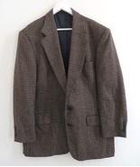 Oscar de la Renta men's size 44R brown 100% Wool blazer sport coat jacke... - $29.98