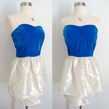 NWT Urban Outfitters blue white cocktail mini sweetheart dress size SMAL... - £18.79 GBP