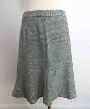 Ann Taylor LOFT size 6P light teal blue knit peplum flare hem skirt career - $29.99