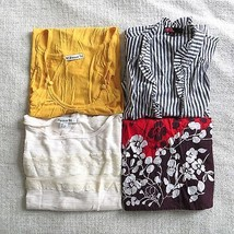LOT OF 4 Forever 21 size SMALL multi-print lightweight blouse tank top shirt - $24.98