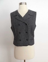 GAP size MEDIUM gray printed double breast vest EUC - $29.99