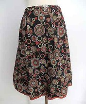 Talbots size 4 colorful dotted circles print a-line below knee length skirt - $29.99