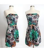 The Limited size 2 colorful abstract floral botanical print strapless dress - $44.99