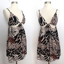 NWT Urban Outfitters wild multi animal print cut-out bikini dress knee l... - £33.83 GBP