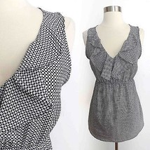 Motherhood size MEDIUM black white geometric print sleeveless v-neck blo... - $29.99
