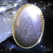HAUNTED  MASONIC NECKLACE MASTERS LAUGH AT YOUR PAST FAILURES OOAK MAGICKAL - $7,676.77